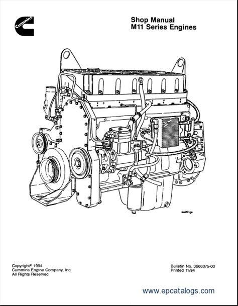 Cummins Engine M11 Series Shop Manual
