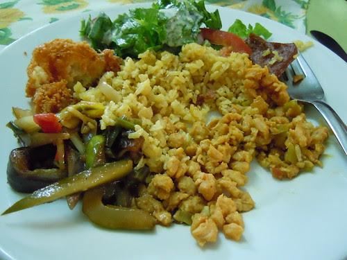Lunch plate @Restaurante Vegetariano Girasoles, Bogota