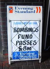 Evening Standard Headline - Bombings Relief Fund
