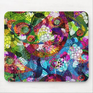 Flower Design Mouse Pad mousepad