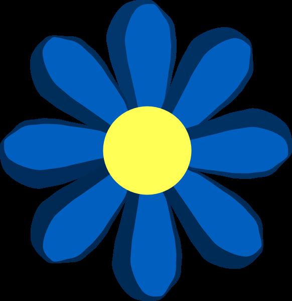 Blue Spring Flower Clip Art At Clker Com Vector Clip Art Online