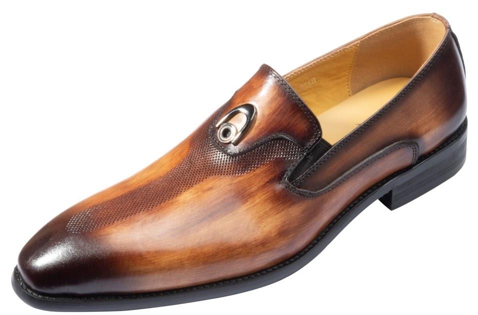 cf69929a92 Comprar Sapatos Masculino Social Bico Fino Metal Decoração Lavar à Mão Cor  Marrom Amarelo De Couro Baratas Online Preço ~ mofefitvak