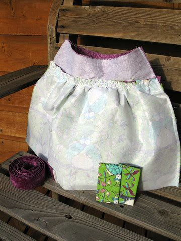 Steps 3-6: Straps and Outer Shell Panel gathered (tote #1)
