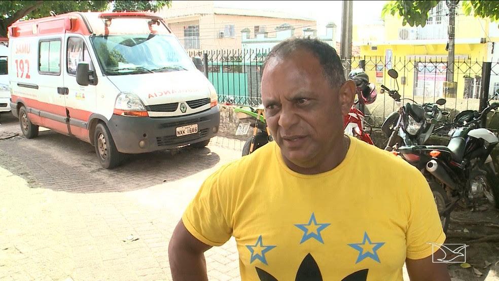 Motorista da ambulância afirma que a ação do criminoso aconteceu em questão de segundos.' (Foto: Reprodução/TV Mirante)