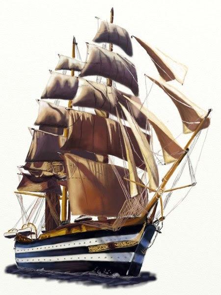 Segelschiff zeichnen - Schritt für Schritt - Tutorial ...