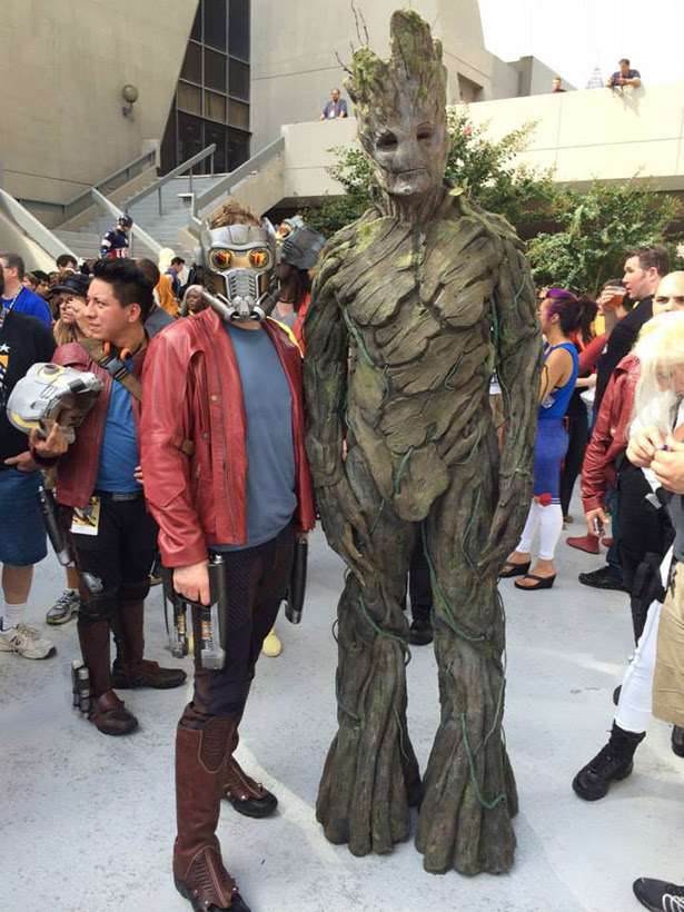 Cosplay de Star Lord y Groot de Guardianes de la Galaxia