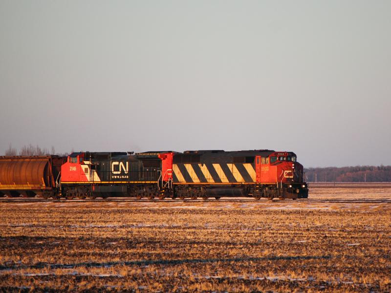 CN 5503 and CN 2145 near Emerson