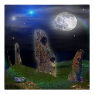Easter Island Poster print