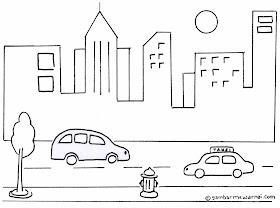 Gambar Sketsa Motor Yang Sederhana
