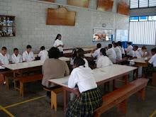 Students reciting Rosary.