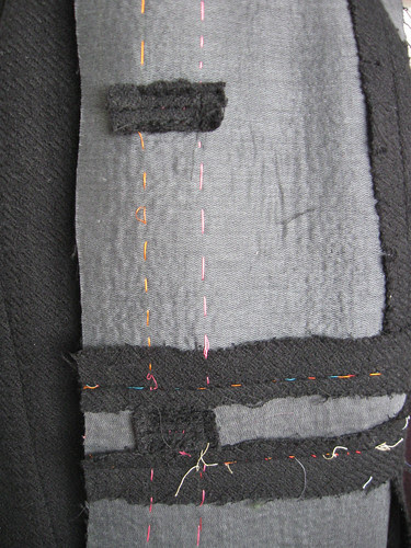 Bound buttonhole inside