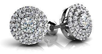 Surrounded By Diamonds Designer Stud Earrings