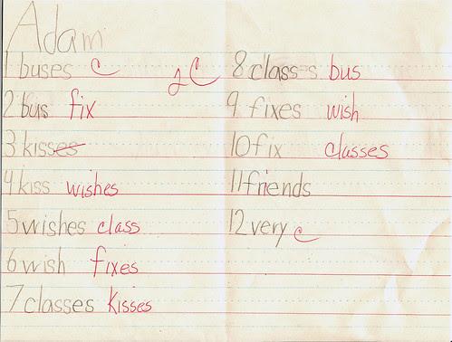 spelling order