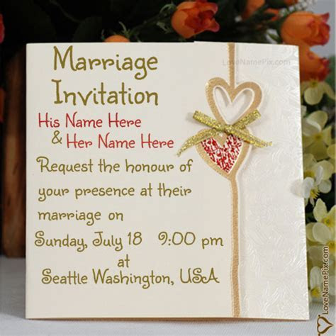 Marriage Invitation Cards Designs Online With Name