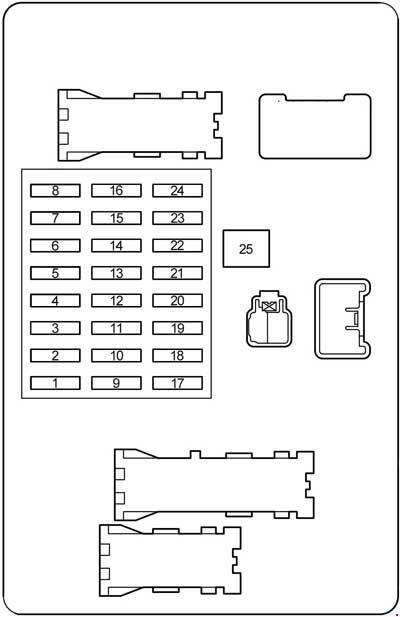 02 09 Toyota 4runner Fuse Diagram