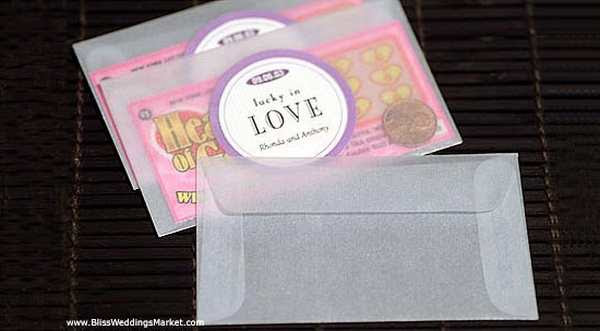 View Wedding Favour Envelopes For Lottery Tickets Pics
