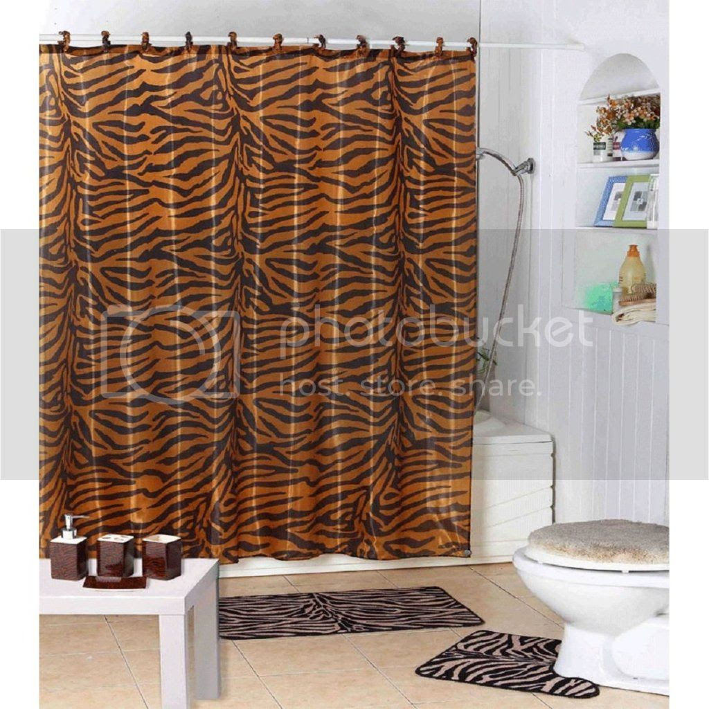Shower Curtain Zebra Rings | Rumah Minimalis