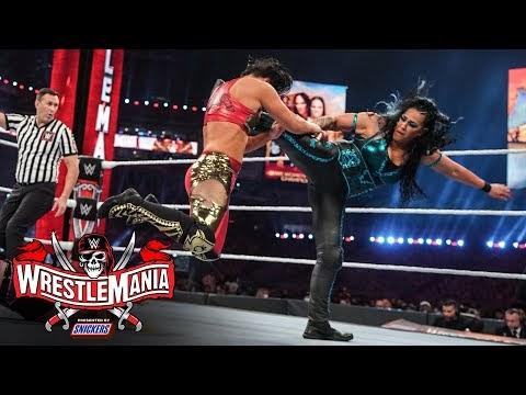 Natalya & Tamina match power with Nia & Shayna: WrestleMania 37 – Night 2 (WWE Network Exclusive)