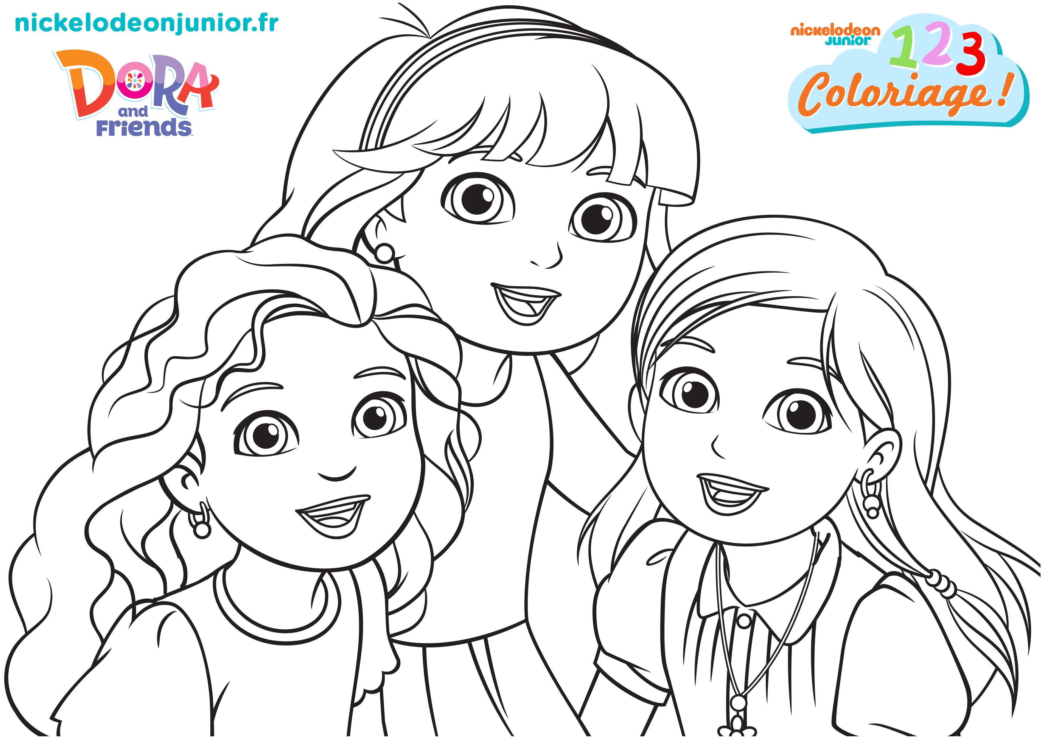Coloriage Dora and Friends au coeur de la ville