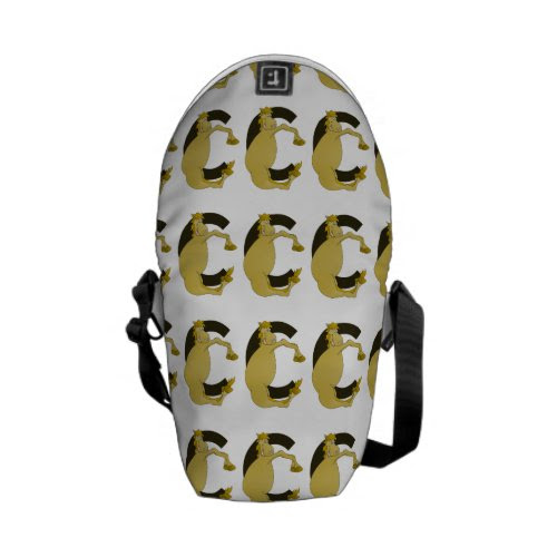 pony C monogram Courier Bag
