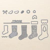 Poinçons Thinlits Chaussettes de Noël