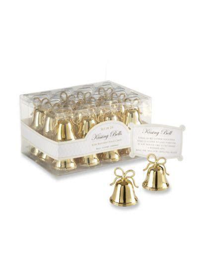 Gold Kissing Bells Place Card Holder Set of 24   David's