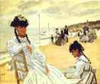 Claude Monet.  Na praia em Trouville.