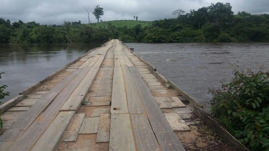 Resultado de imagem para fotos da ponte sobre o rio jamanxim