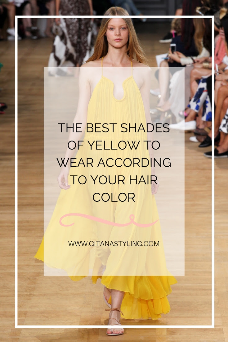 The Best Shades Of Yellow To Wear According To Your Hair Color Gitana Styling