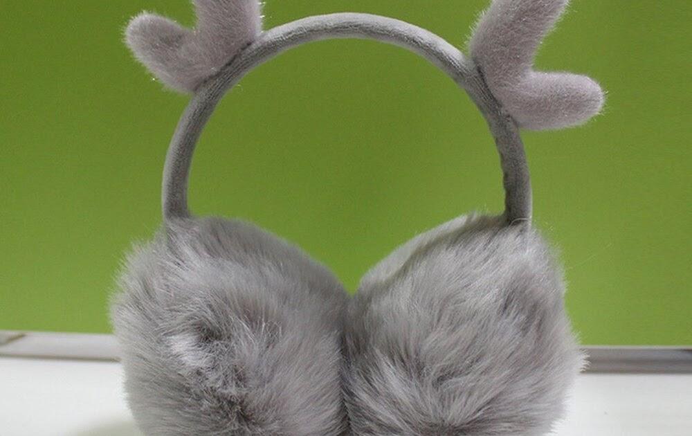 Watermelon Red Lovely Rabbit Ears Super Soft Earmuffs Winter Earmuffs Ear Warmers For Women