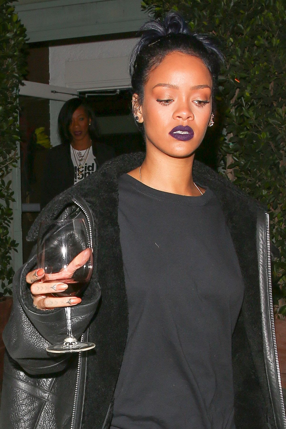 RIHANNA Leaves Giorgio Baldi Restaurant in Santa Monica 11/072015