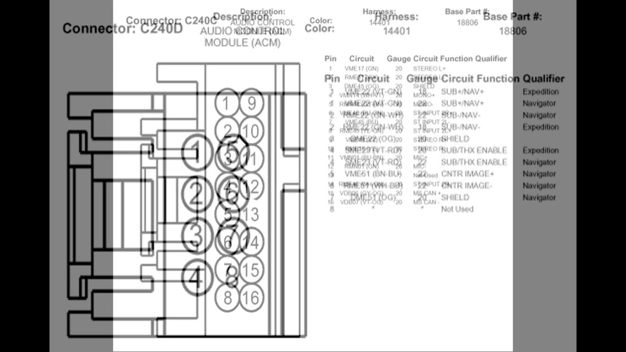 2004 Lincoln Navigator Stereo Wiring Diagram With Factory ...