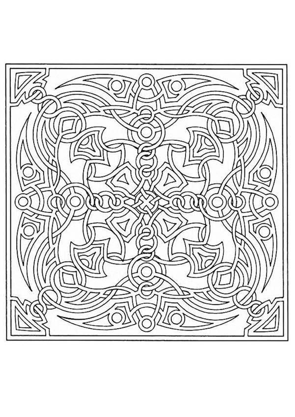 Dibujos Para Colorear Mandala Paisaje De Montaña Eshellokidscom