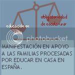 Manifestación en apoyo a las familias homeschoolers