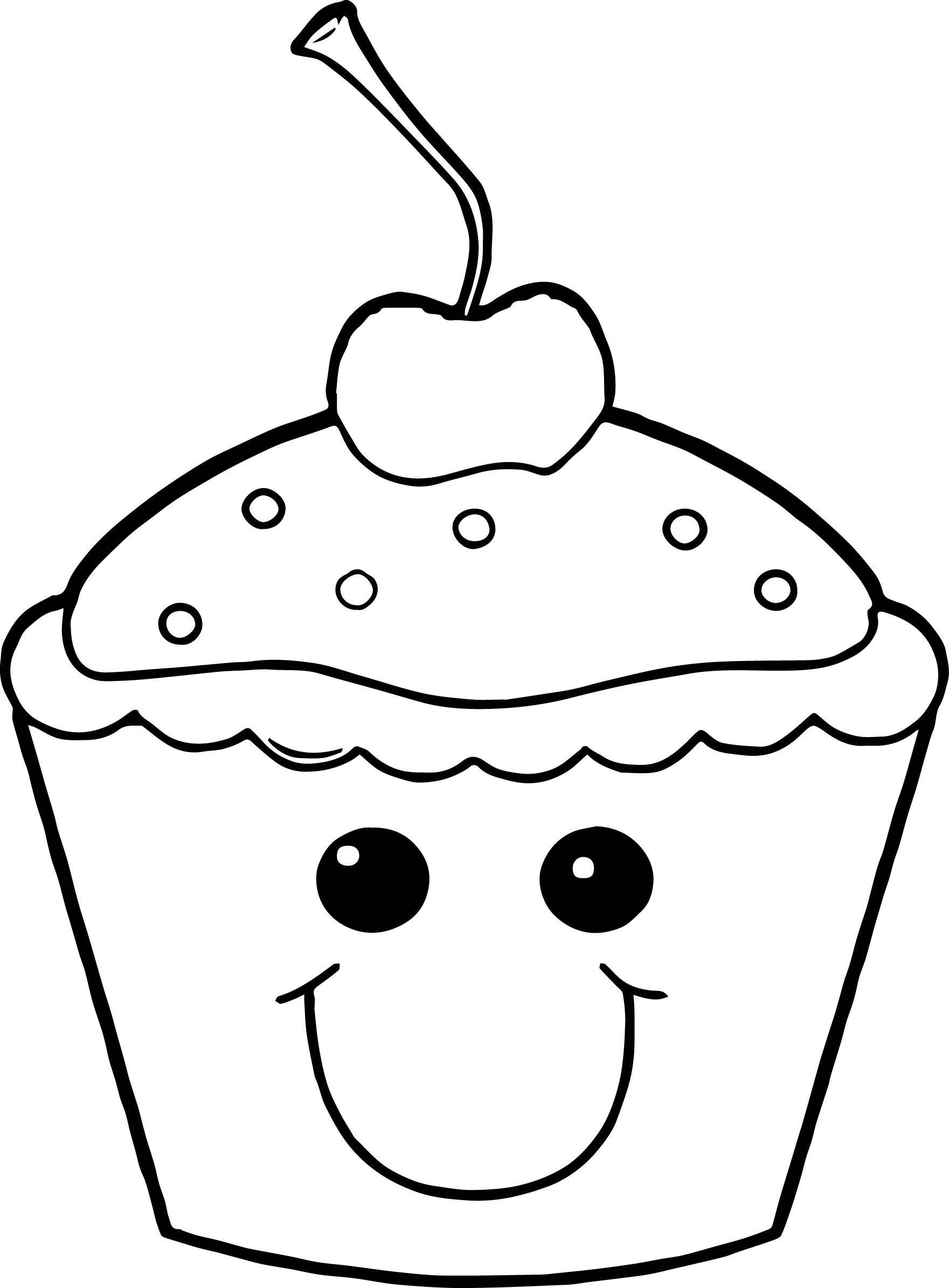 58 Cartoon Cupcake Coloring Pages Download Free Images