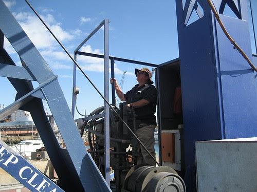 David at the controls