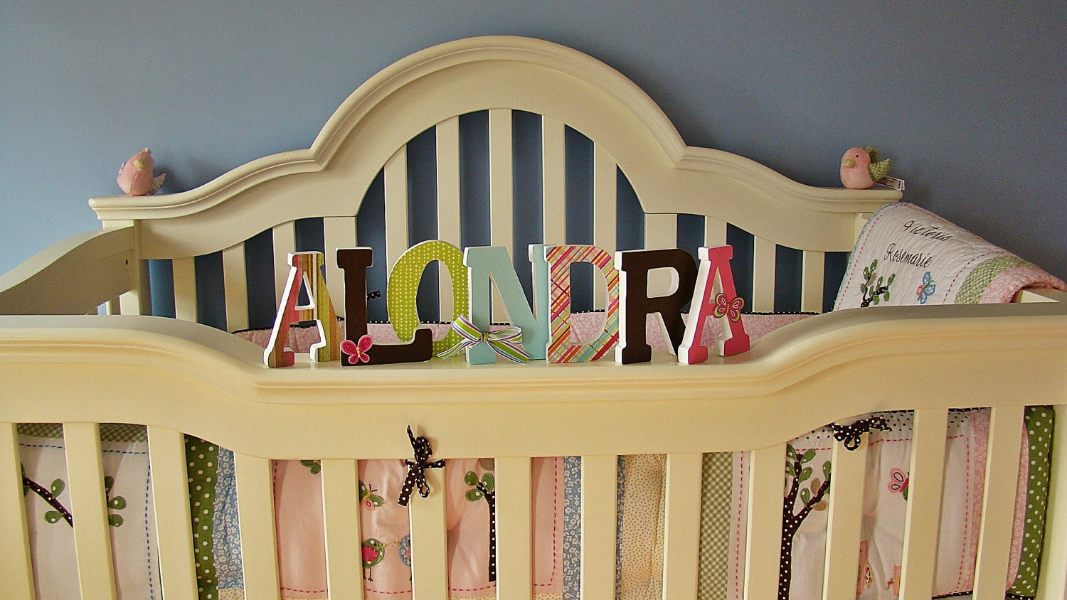 5 Inch Stand Alone Customized Wood Letters Nursery Home Decor Wedding