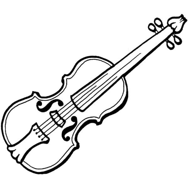 Disegno Di Violino Da Colorare Per Bambini Disegnidacolorareonlinecom