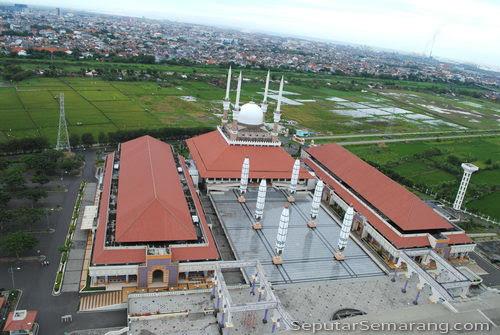 masjid agung tampak dari tower
