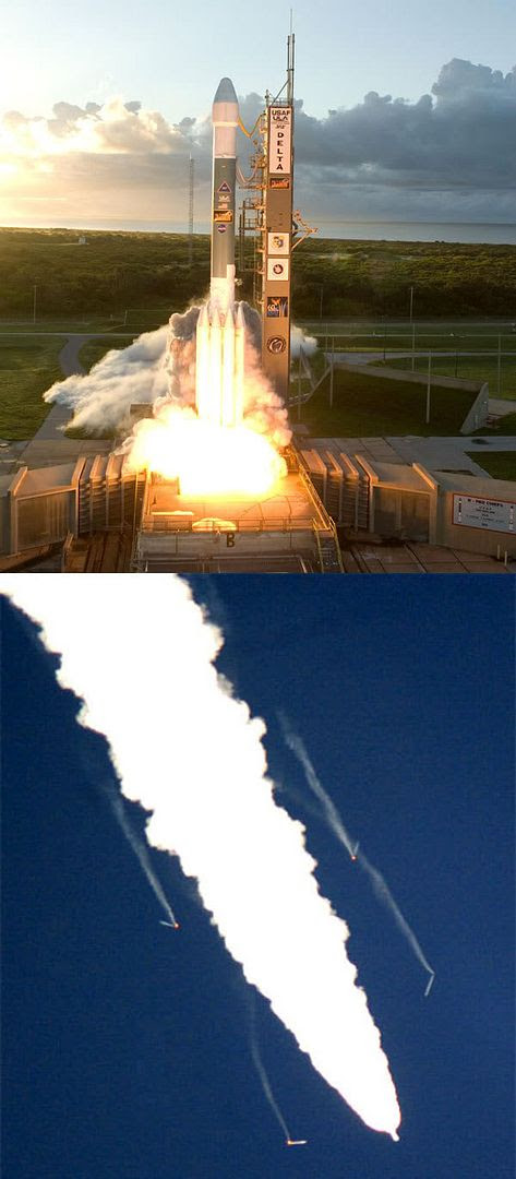 The DAWN spacecraft is launched from Cape Canaveral Air Force Station in Florida on September 27, 2007.