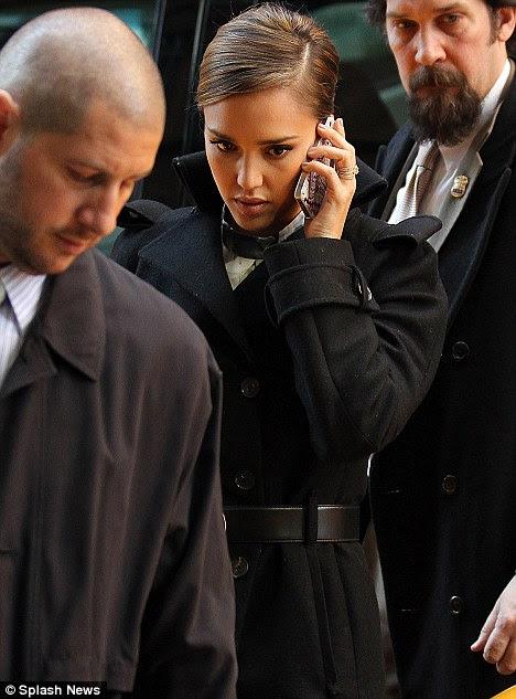 Empresária: Em um ponto hoje, a atriz foi conversando no telefone, entre aparições públicas