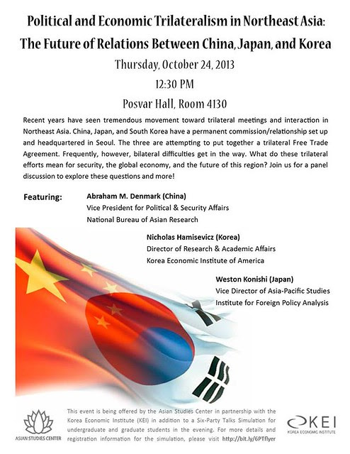 Political and Economic Trilateralism in Northeast Asia Pitt