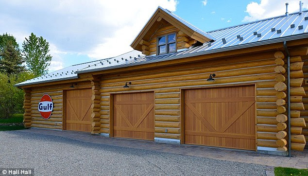 Pit stop: A four-berth garage and workshop is included in the actor and racing car driver's former home