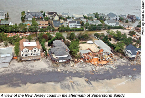 A view of the New Jersey coast in the aftermath of Superstorm Sandy.
