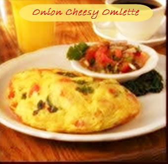 Onion Flavoured Cheese Omlette