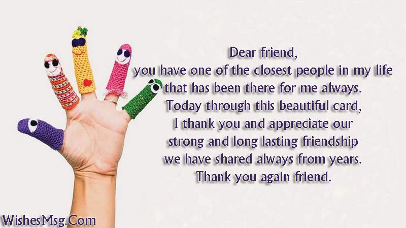Thank You Messages For Friends Sweet Notes Quotes Wishesmsg