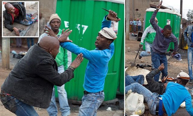 Last moments of Emmanuel Sithole bleeding to death in South African gutter