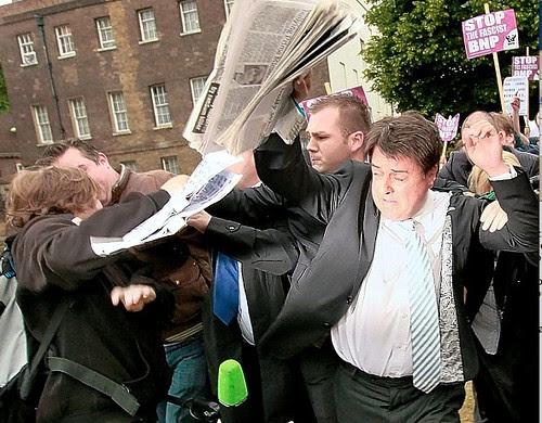 facing the press