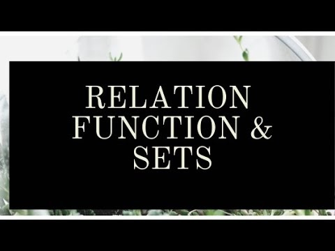 Relation and Function,sets