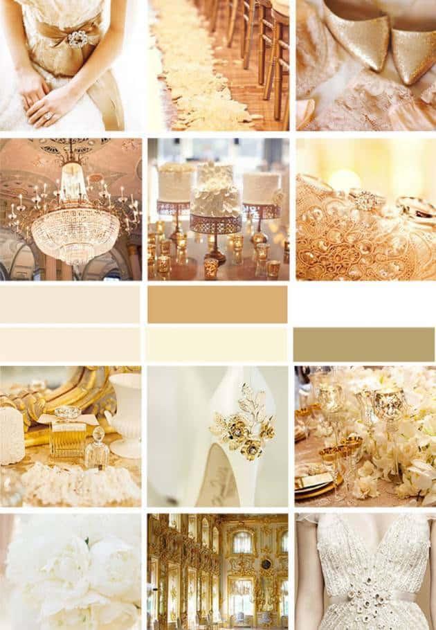 Wedding Color Palette: Gold - Inspired Bride